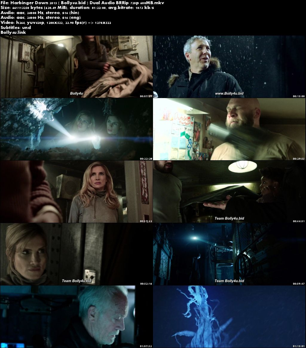 Harbinger Down 2015 BRRip 280Mb Hindi Dual Audio 480p Download