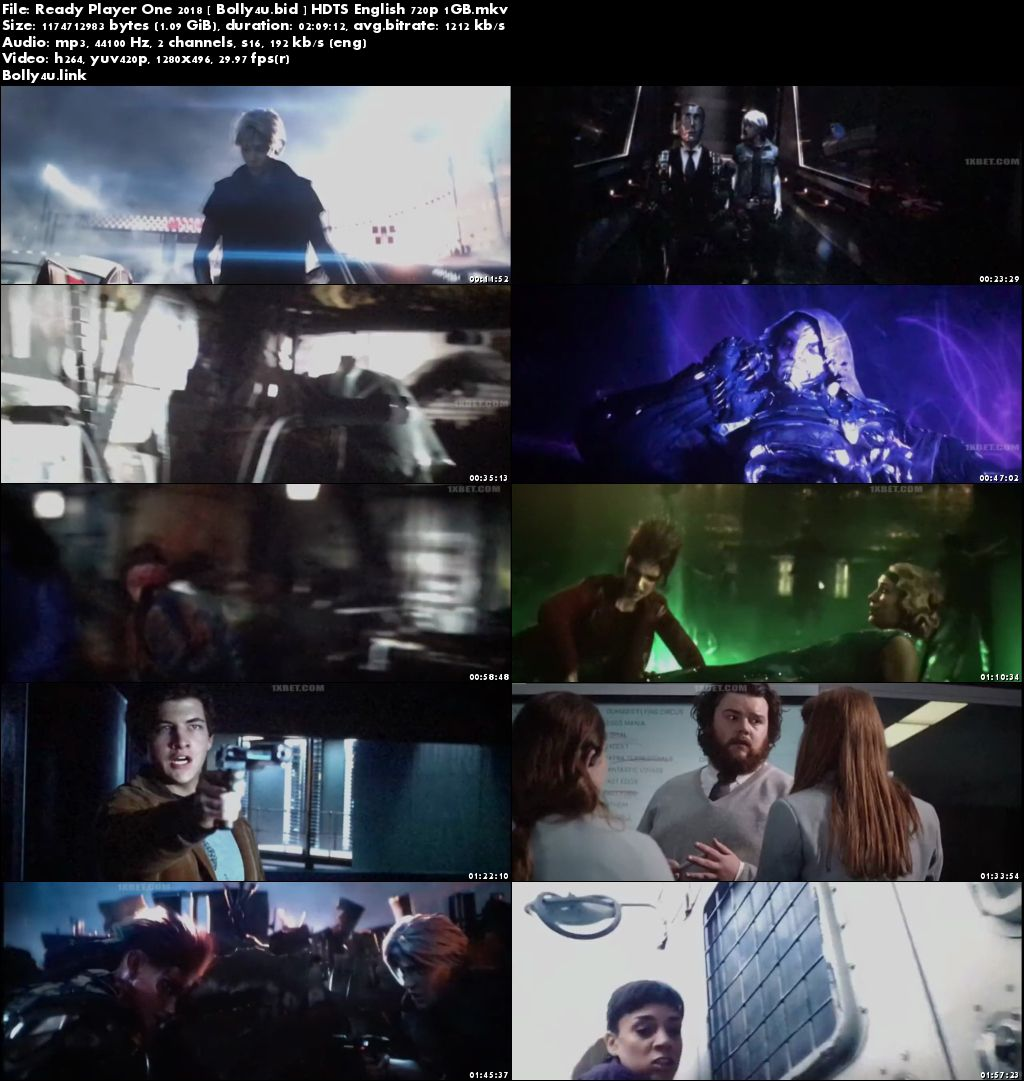 Ready Player One 2018 HDTS 300MB English 480p Download