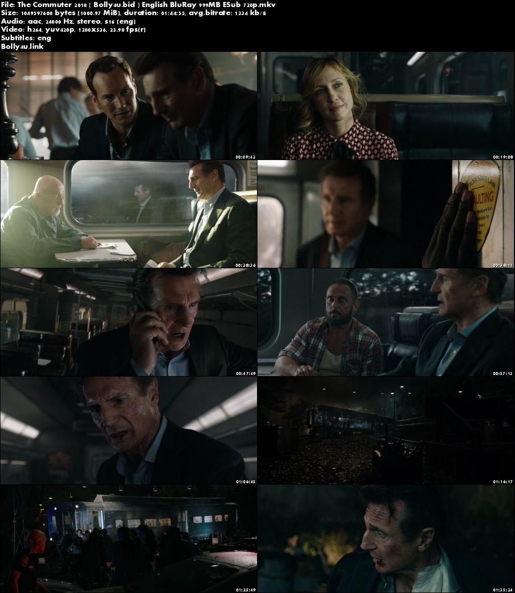 The Commuter 2018 BluRay 300MB English 480p ESub Download