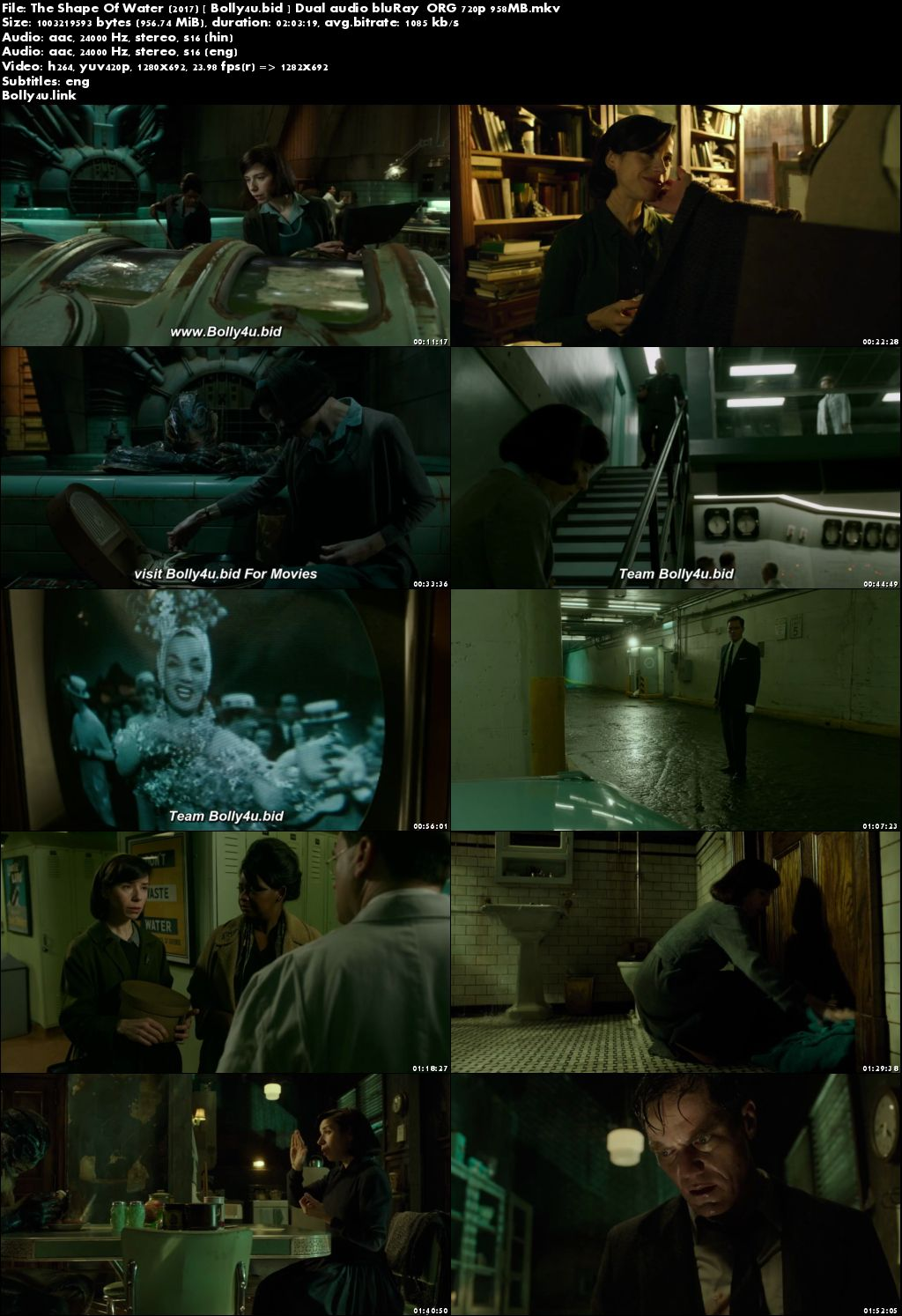 The Shape Of Water 2017 BluRay 350MB Hindi Dual Audio ORG 480p Download