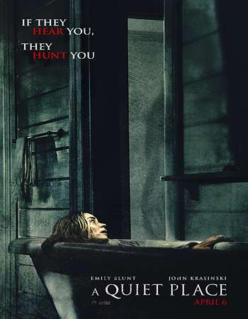 Poster Of English Movie A Quiet Place 2018 Full HDCam Movie Free Download Watch Online