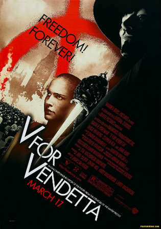 V For Vendetta 2005 BRRip 400Mb Hindi Dual Audio 480p Watch Online Full Movie Download bolly4u