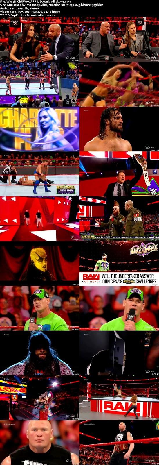 WWE Monday Night Raw 02 April 2018 480p HDTV Download