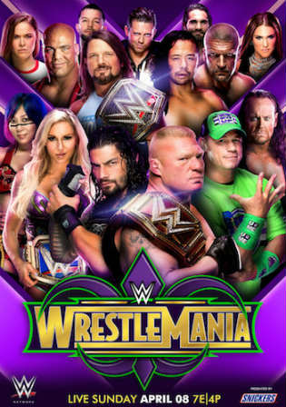 WWE WrestleMania 34 2018 PPV Full Show 480p WEBRip Watch Online Full Movie Download bolly4u