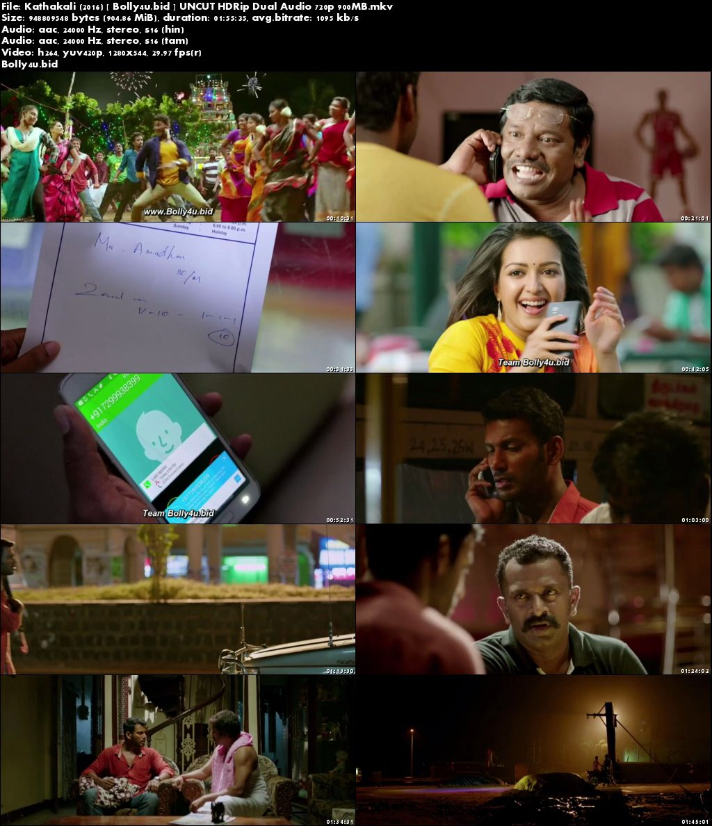 Kathakali 2016 HDRip 900MB UNCUT Hindi Dual Audio 720p Download