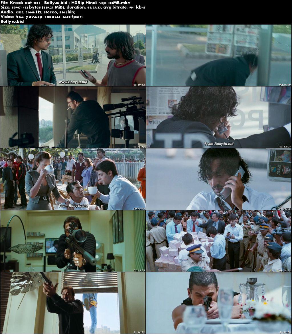 Knock Out 2010 HDRip 800Mb Full Hindi Movie Download 720p