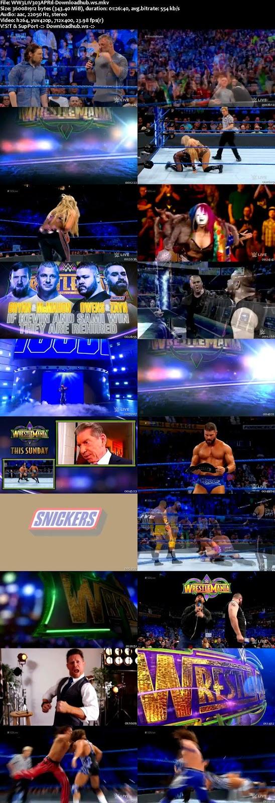 WWE Smackdown Live 03 April 2018 480p HDTV Download