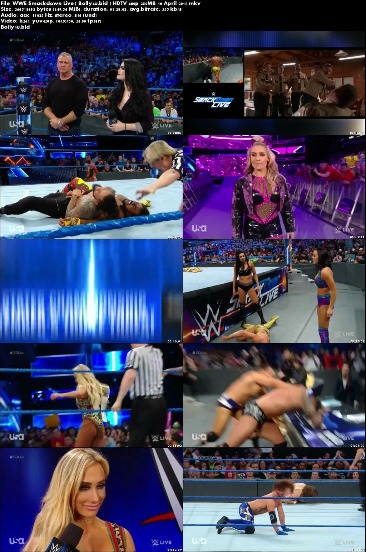 WWE Smackdown Live HDTV 480p 350MB 10 April 2018 Download