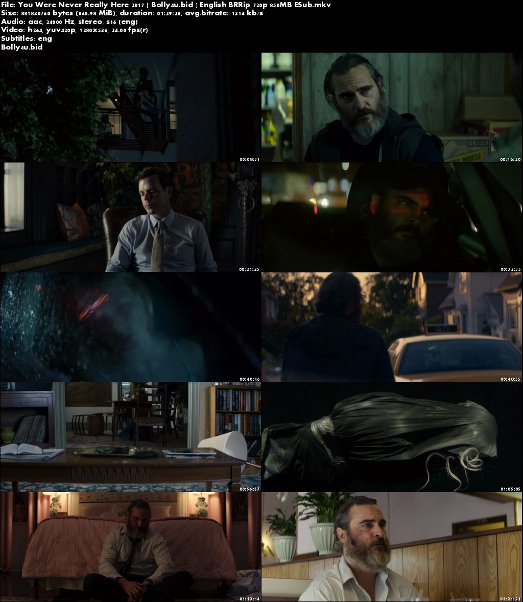 You Were Never Really Here 2017 BluRay 280MB English 480p ESub Download