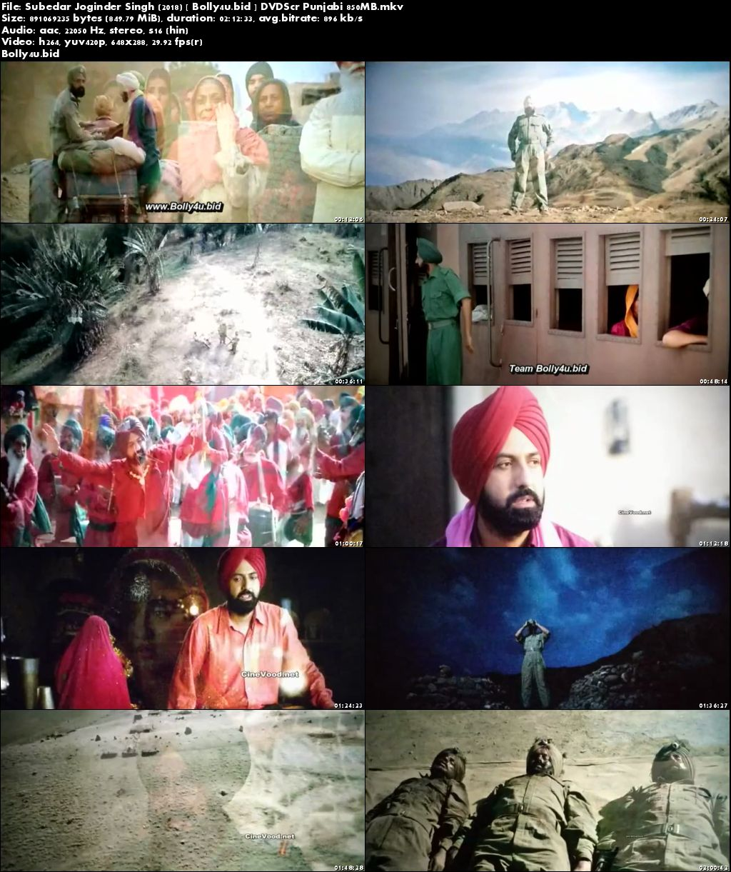 Subedar Joginder Singh 2018 DVDScr 850MB Punjabi x264 Download
