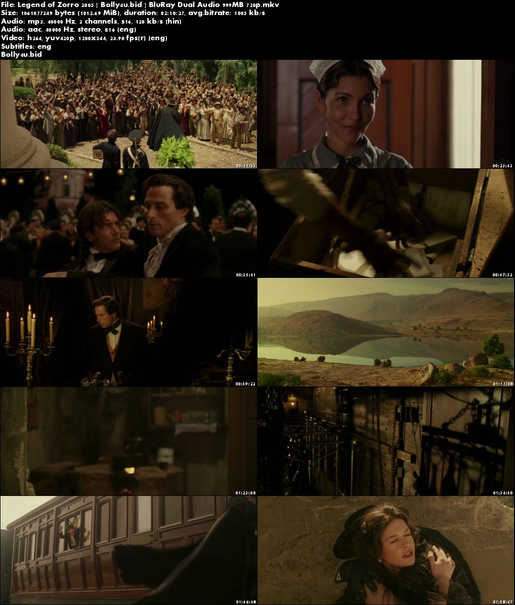 Legend of Zorro 2005 Hindi Dual Audio BluRay 720p Download