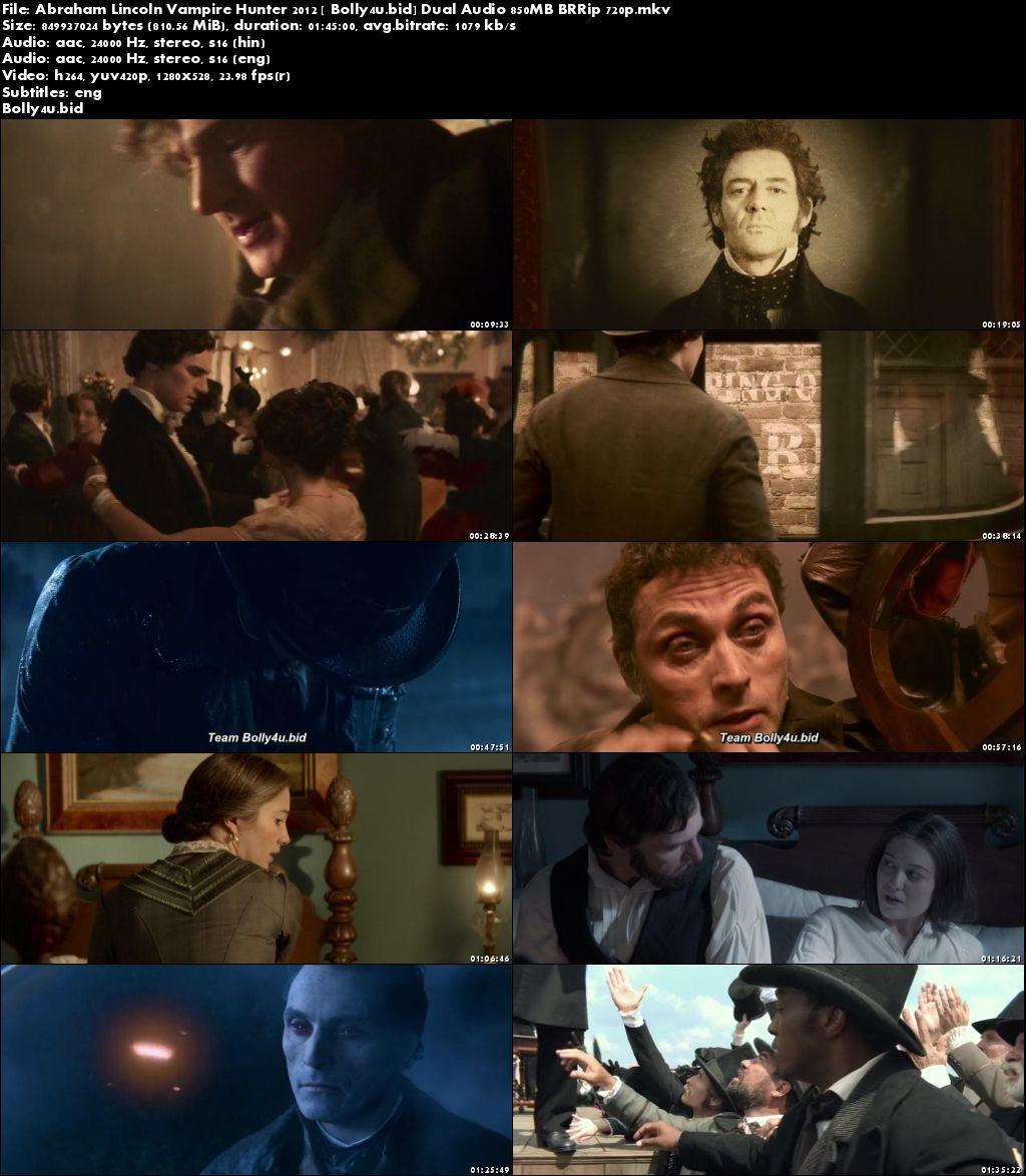 Abraham Lincoln Vampire Hunter 2012 BRRip 350Mb Hindi Dual Audio 480p Download