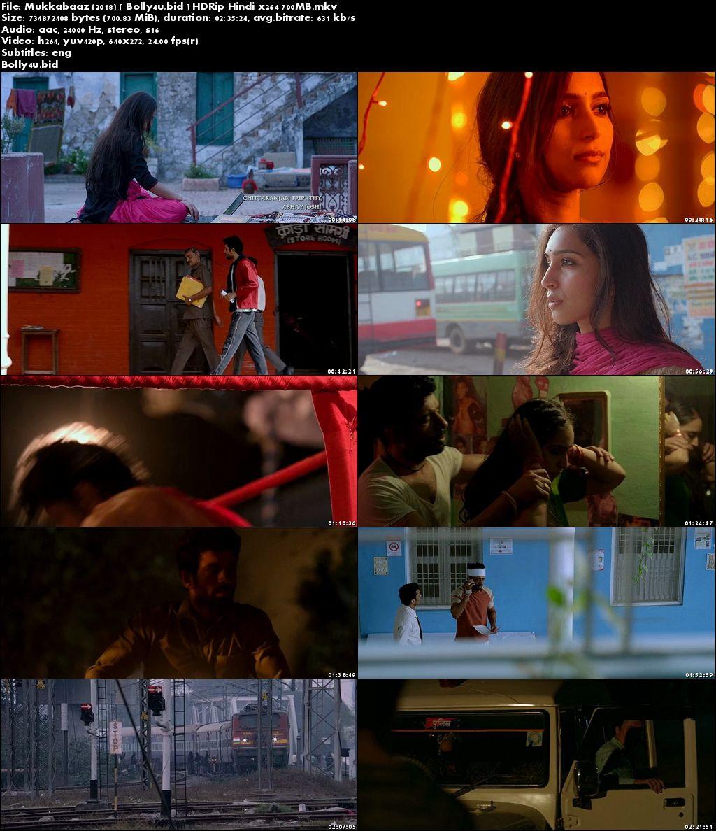 Mukkabaaz 2018 HDRip 700Mb Full Hindi Movie Download x264 ESub
