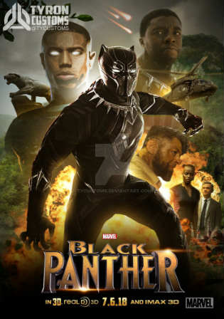 Black Panther 2018 Latest Movie Dual Audio Movie 1GB