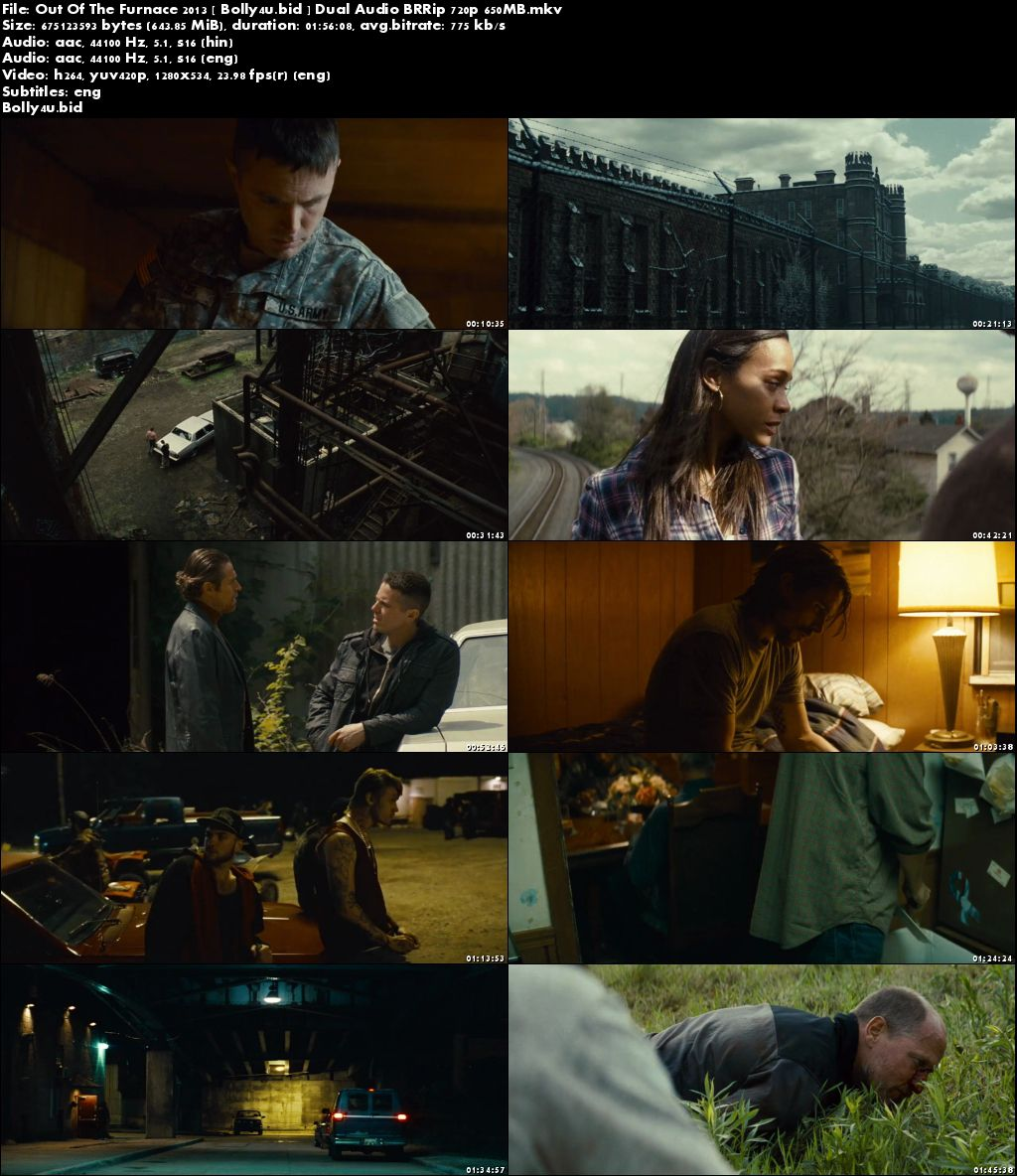 Out Of The Furnace 2013 BRRip 650MB Hindi Dual Audio 720p Download