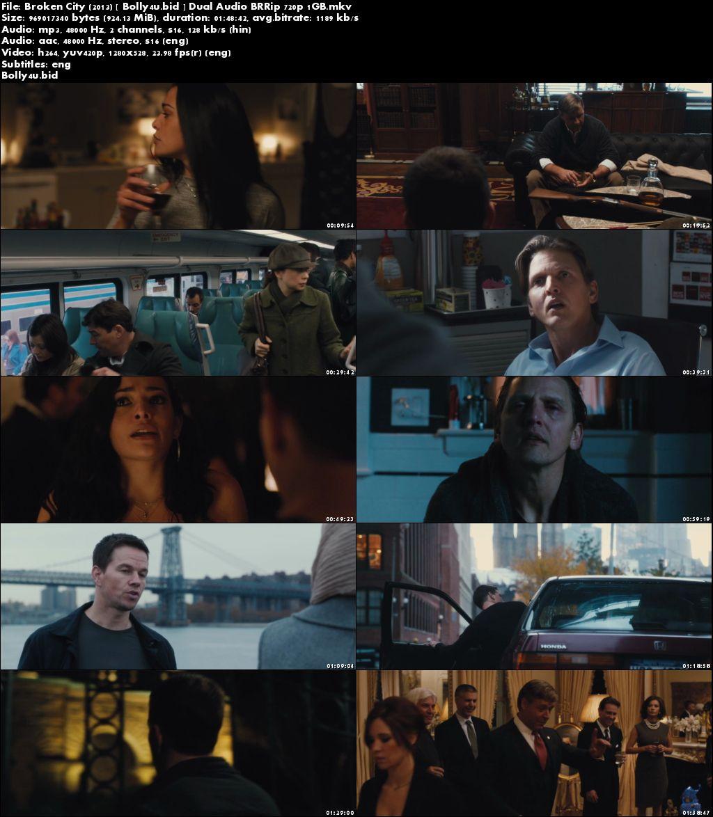 Broken City 2013 BRRip 1Gb Hindi Dual Audio 720p ESub Download