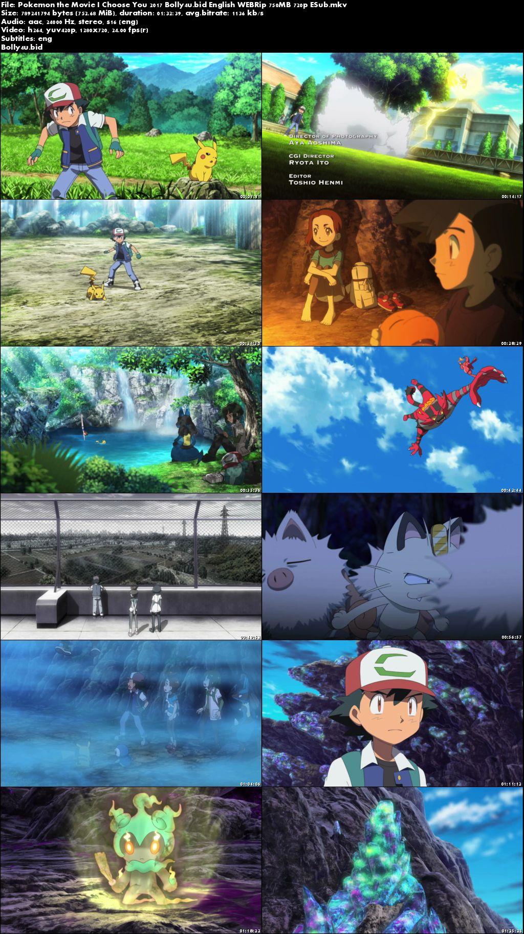 Pokemon the Movie I Choose You 2017 WEBRip 750MB English 720p ESub Download