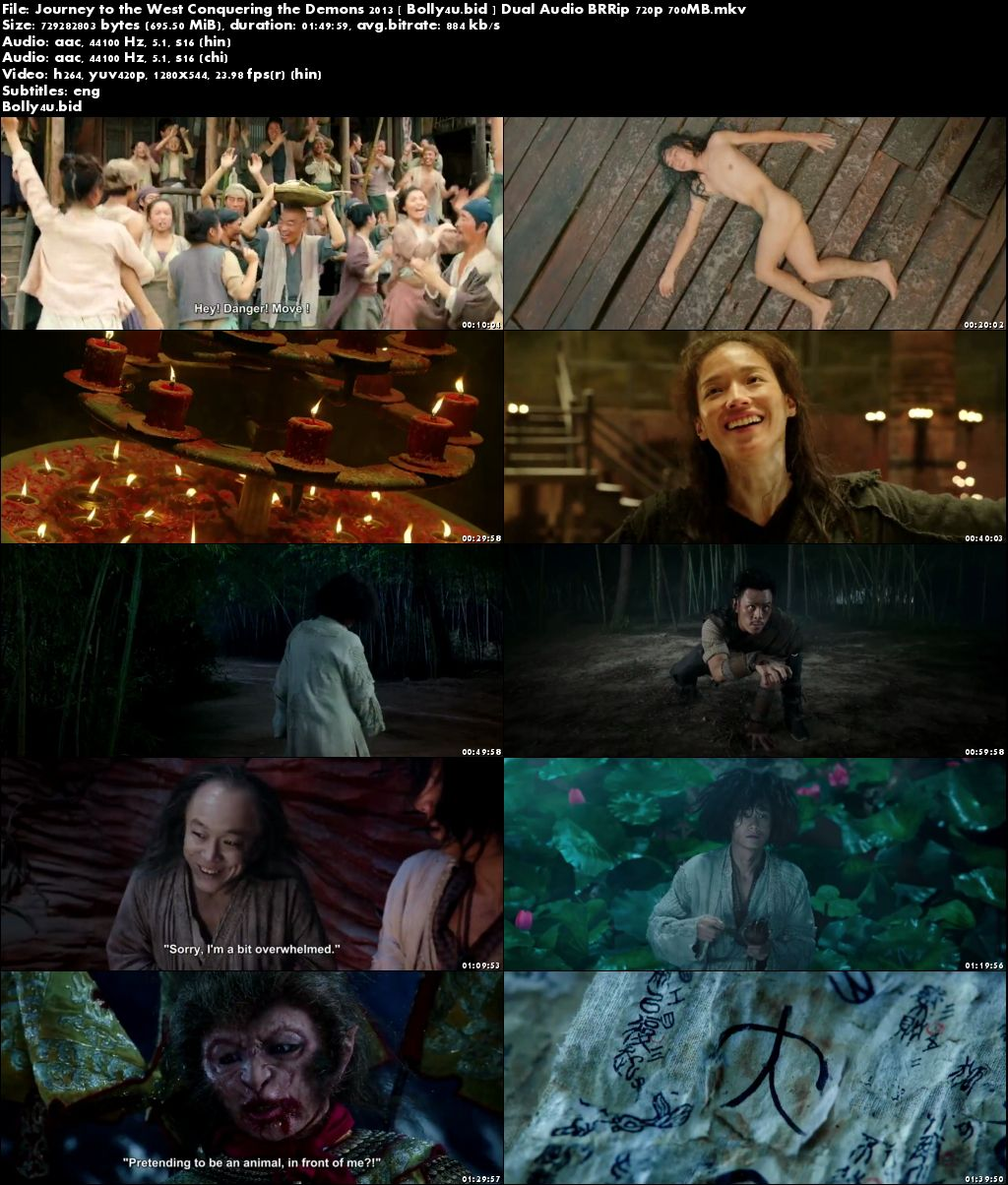 Journey to the West Conquering the Demons 2013 BRRip 350MB Hindi Dual Audio 480p Download