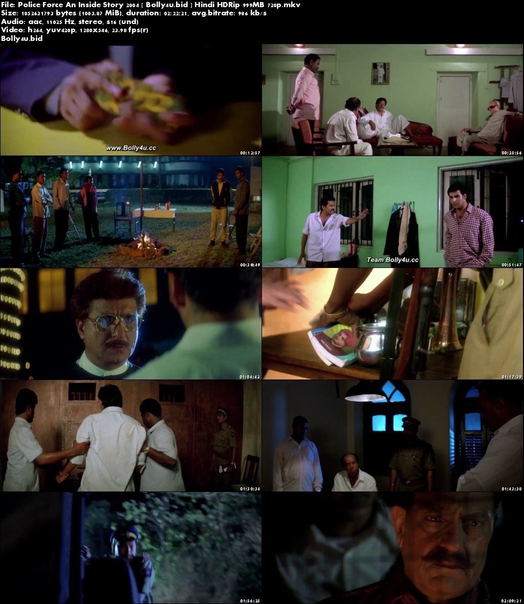 Police Force An Inside Story 2004 HDRip 400MB Hindi 480p Download