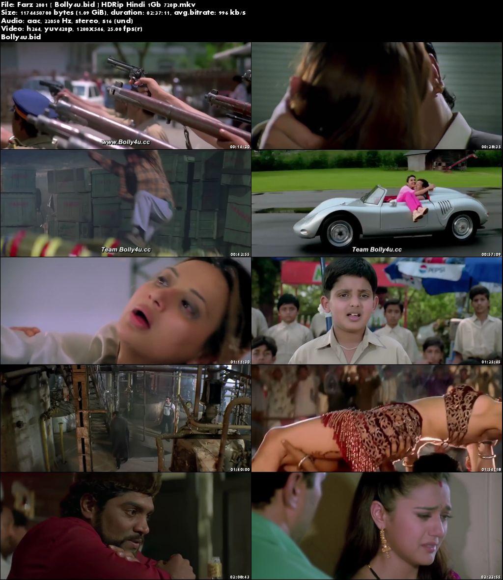 Farz 2001 HDRip 450MB Full Hindi Movie Download 480p