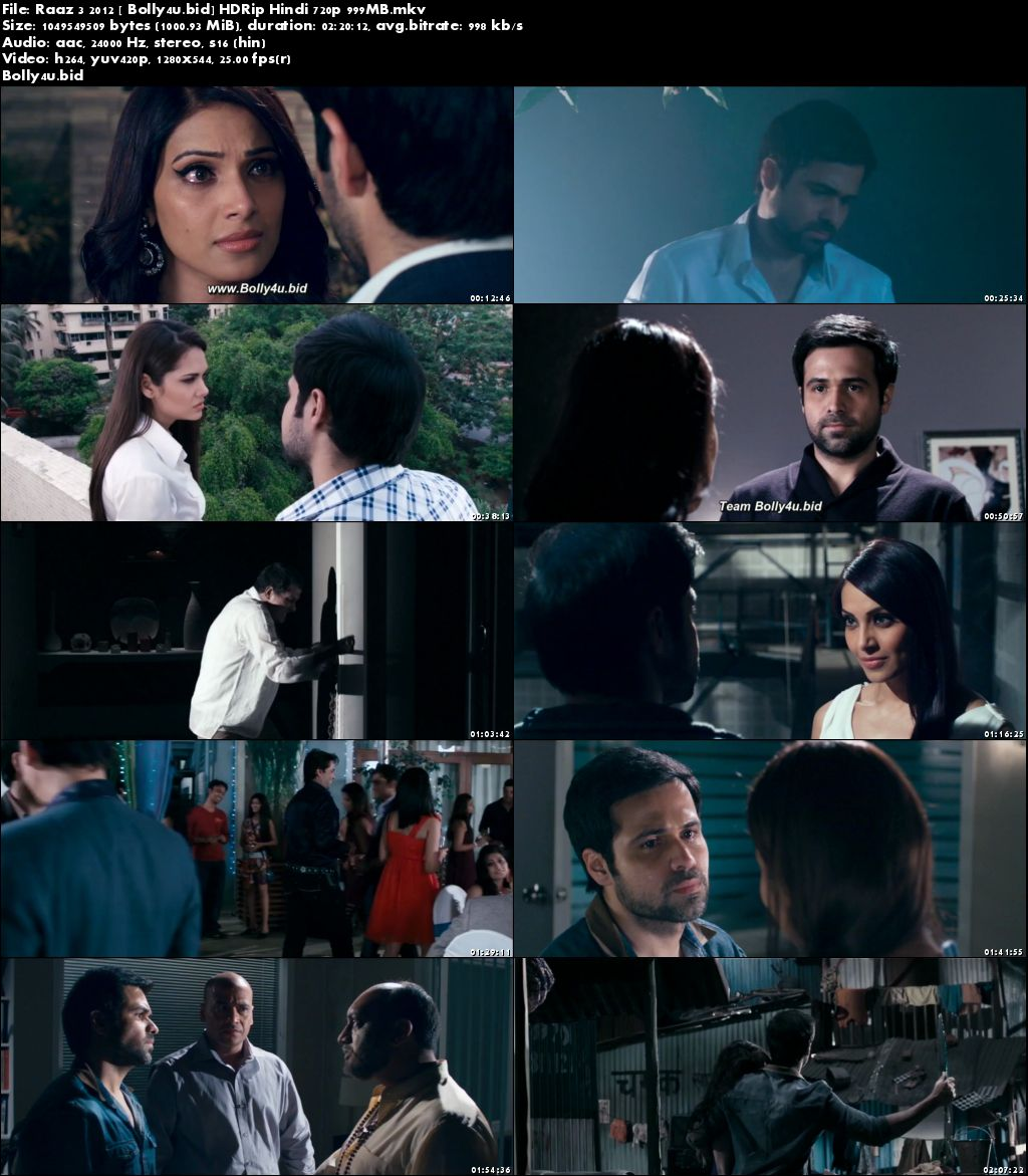 Raaz 3 2012 HDRip 999MB Full Hindi Movie Download 720p