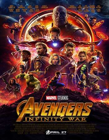 Avengers Infinity War 2018 Hindi ORG Dual Audio 700MB BluRay 720p ESubs HEVC