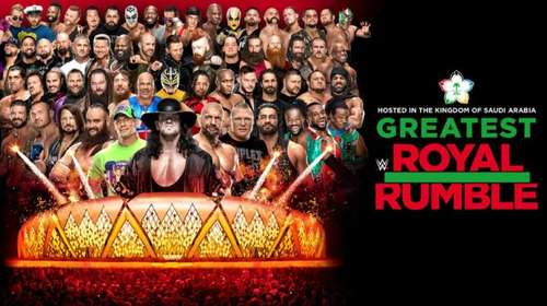 Poster Of WWE Greatest Royal Rumble 27th April PPV 2018 HDTV 480P 300MB