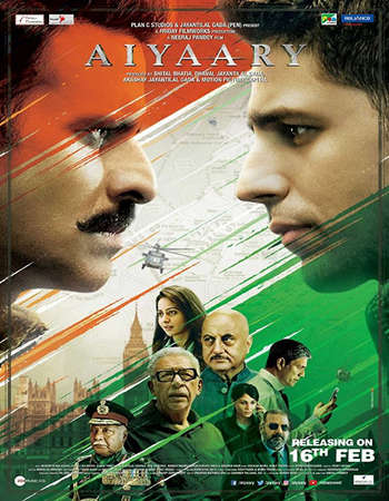 Aiyaary 2018 Full Hindi 480p HEVC Movie DVDRip Free Download