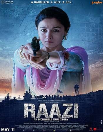 Raazi 2018 Hindi 650MB HDRip 720p ESubs HEVC