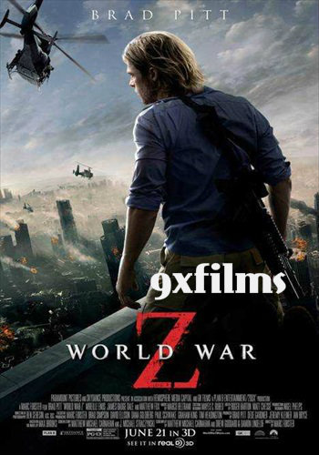 World War Z 2013 BRRip Extended 720p Dual Audio Hindi 900MB
