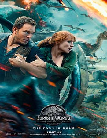 Poster of Movie Jurassic World Fallen Kingdom 2018 Dual Audio 720p HDCAM