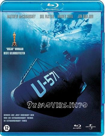 U-571 (2000) Dual Audio Hindi 720p BluRay 800mb