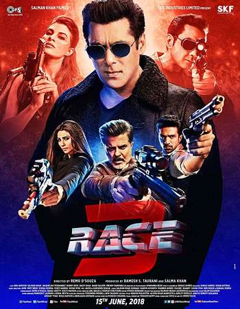 Race 3 2018 Hindi 200MB Pre-DVDRip HEVC 480p
