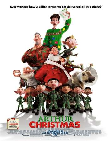 Arthur Christmas 2011 Hindi Dual Audio 450MB BluRay 720p HEVC ESubs