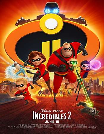 Incredibles 2 2018 Clean [Hindi-Telugu-Tamil-Eng Org] 720p 1.1GB Web-DL