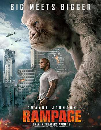 Rampage 2018 Hindi Dual Audio 180MB Web-DL HEVC 480p ESubs