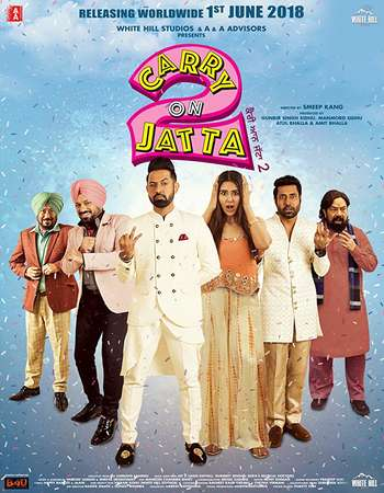 Carry on Jatta 2 2018 Punjabi 180MB DTHRip HEVC Mobile HC ESubs