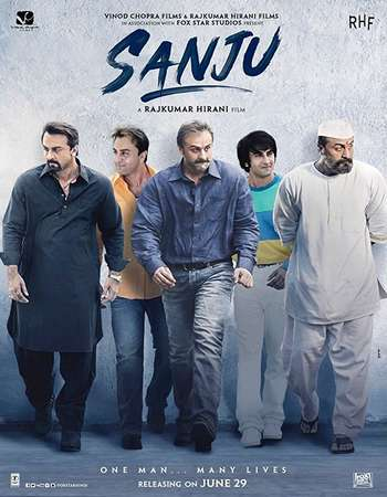 Download Sanju (2018) Hindi  800MB Pre-DVDRip x264 AAC - Downloadhub Torrent