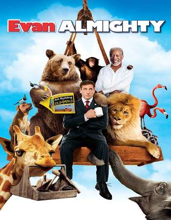 Evan Almighty 2007 Hindi Dual Audio BRRip Full Movie 300mb Download
