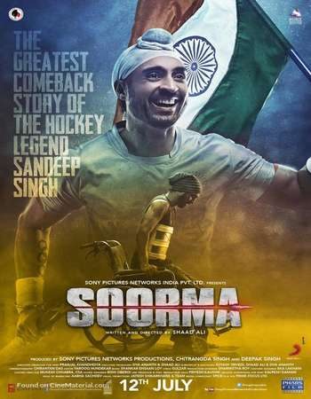 Soorma 2018 Hindi 600MB HDRip 720p ESubs HEVC