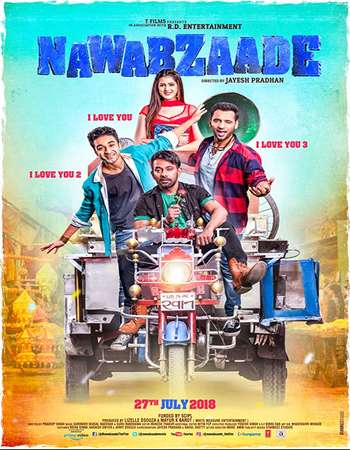 Poster of Movie Nawabzaade 2018 Hindi 300MB HDRip