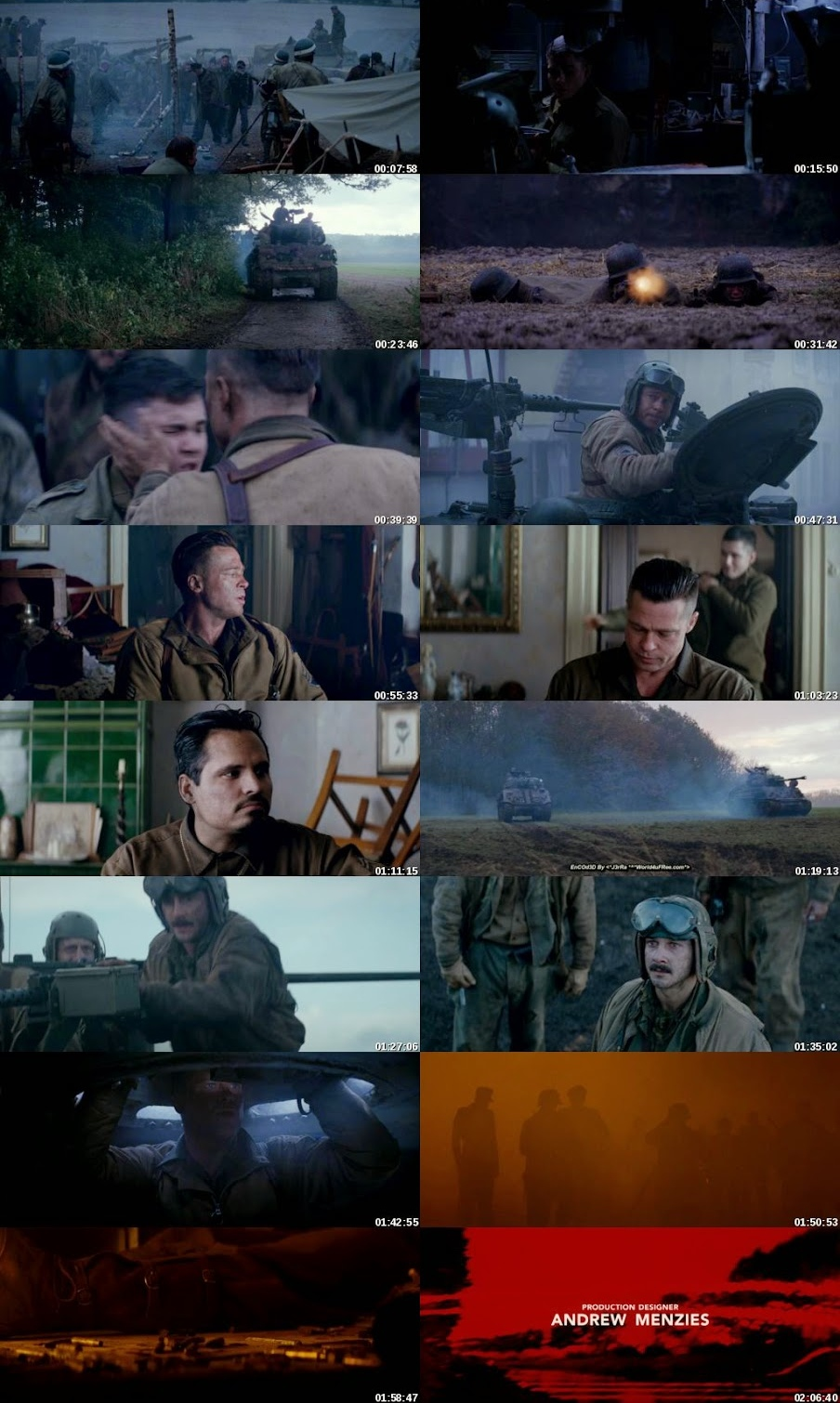Fury 2014 Dual Audio Hindi BluRay Full Movie Download HD