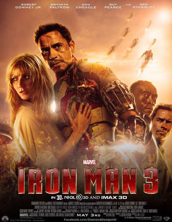 Iron Man 3 2013 Dual Audio ORG Hindi 400MB BluRay 480p ESubs Free Download