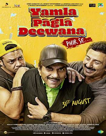 Yamla Pagla Deewana Phir Se 2018 Full Hindi Movie 720p HDRip Free Download