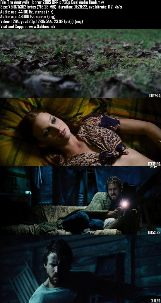 The Amityville Horror 2005 BRRip 720p Dual Audio Hindi 700mb