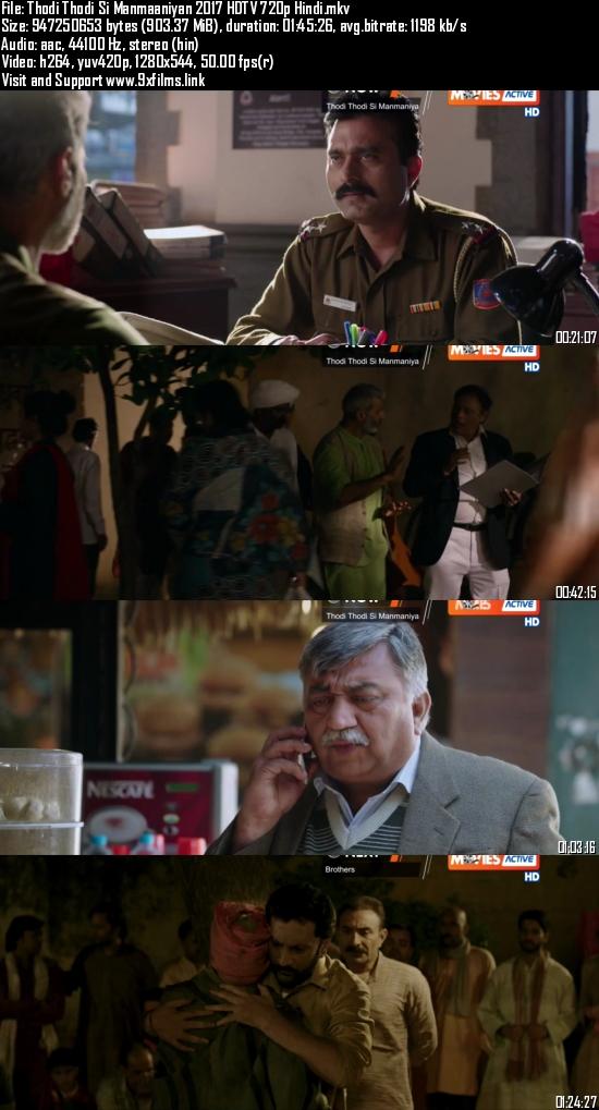 Thodi Thodi Si Manmaaniyan 2017 HDTV 720p Hindi 900MB