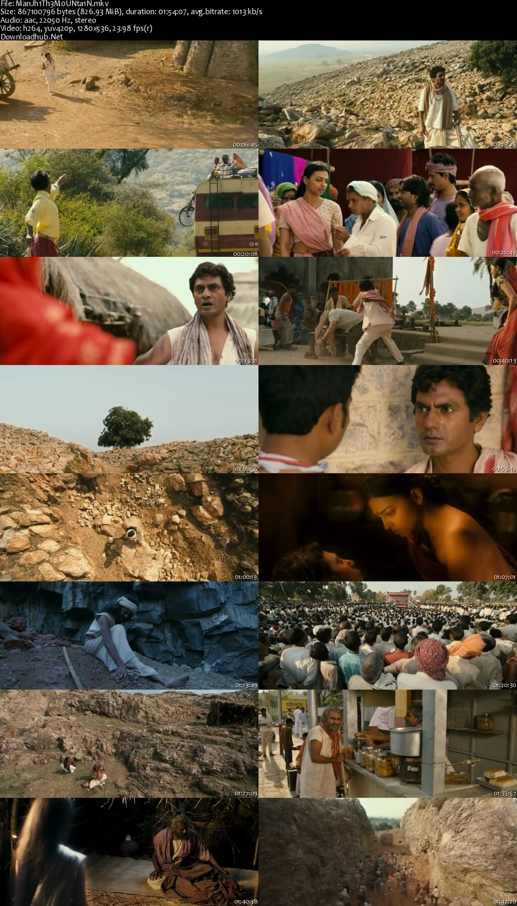 Screen Shot Of Manjhi The Mountain Man 2015 Hindi 720p HDRip x264 Resumeable Single Free Download Links Watch Online Free At downloadhub.in