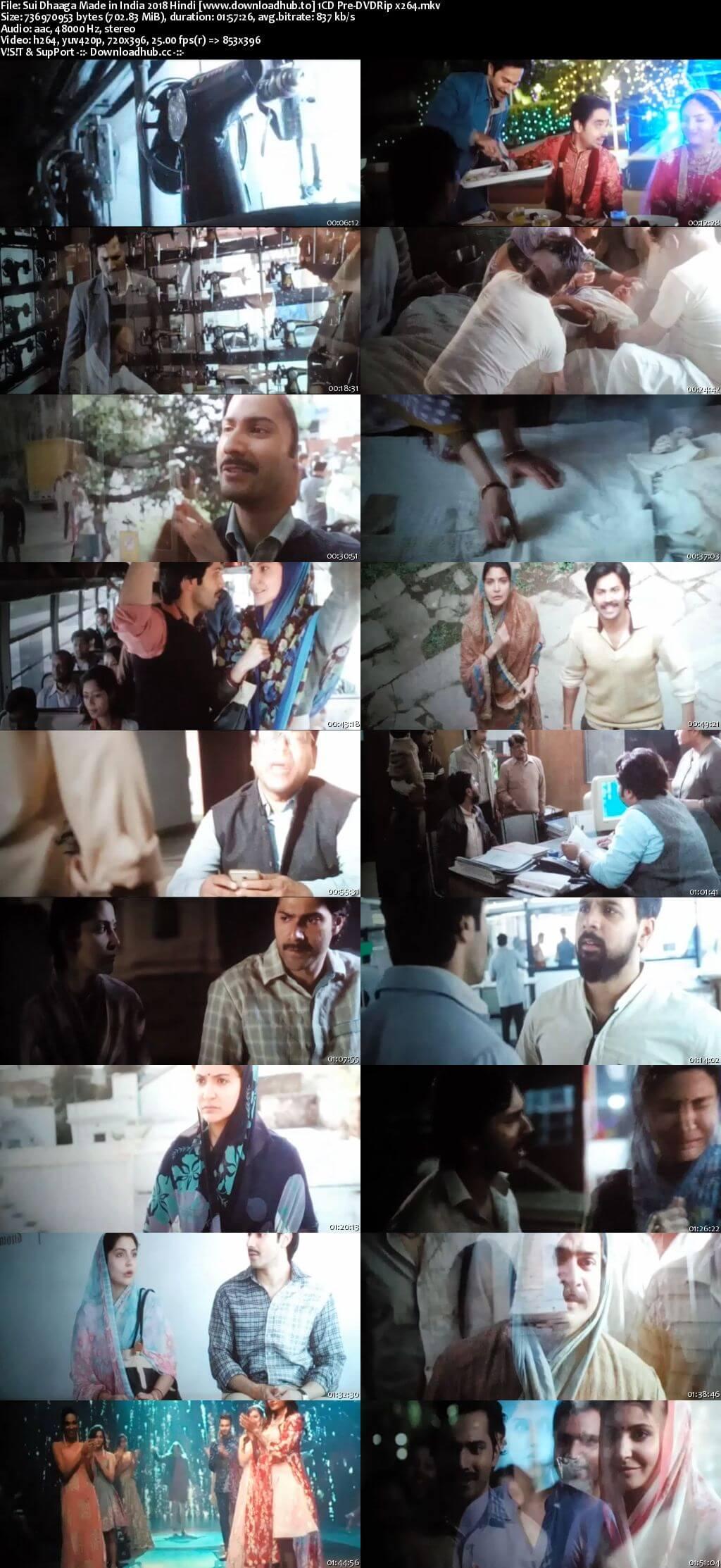 Sui Dhaaga Made in India 2018 Hindi 700MB Pre-DVDRip x264