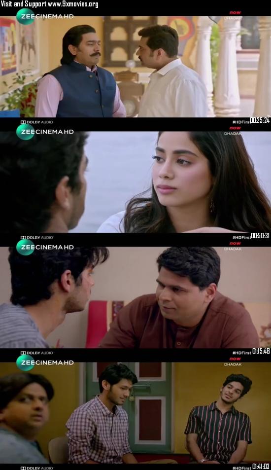 Dhadak 2018 Hindi 480p HDTV 350mb