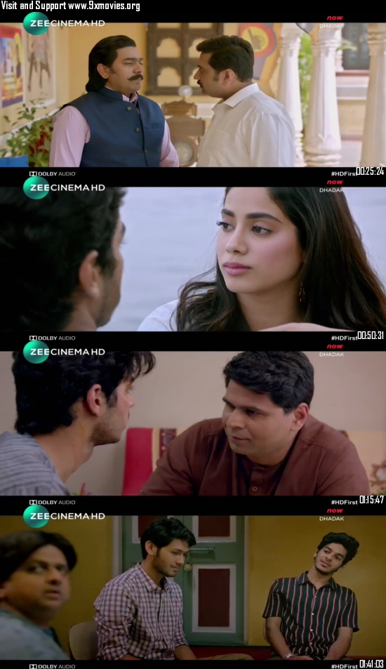 Dhadak 2018 Hindi 720p HDTV 850mb